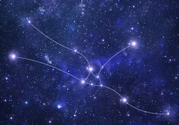 Constellations. Taurus (zodiacal) stock photo