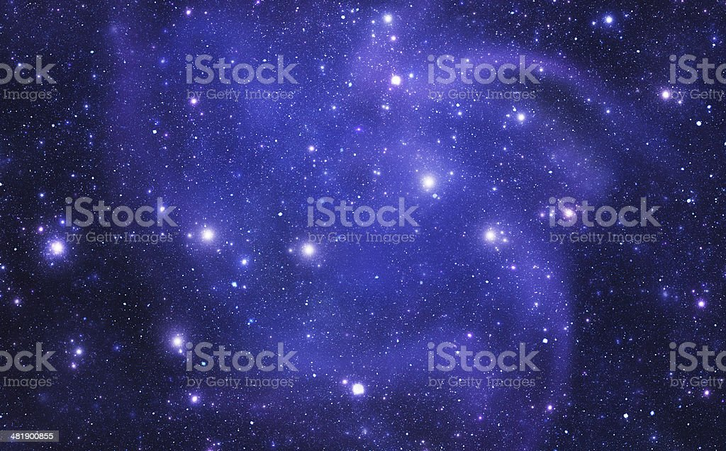 Constellations. Virgo (zodiacal) stock photo