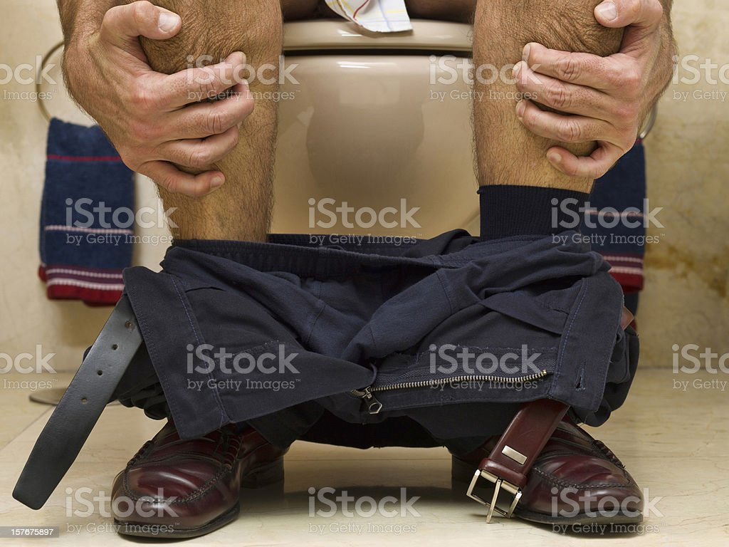 Constipated stock photo