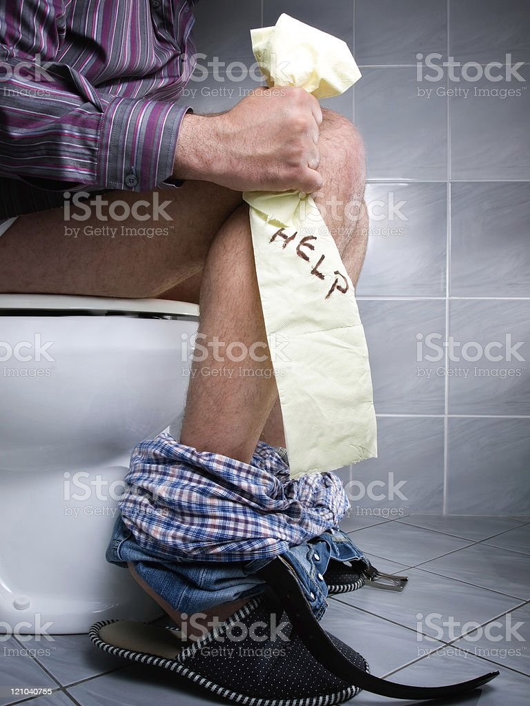 Constipation help royalty-free stock photo