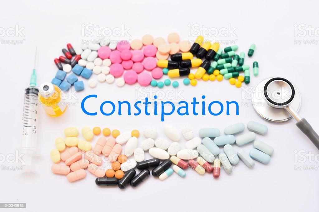 Constipation treatment stock photo