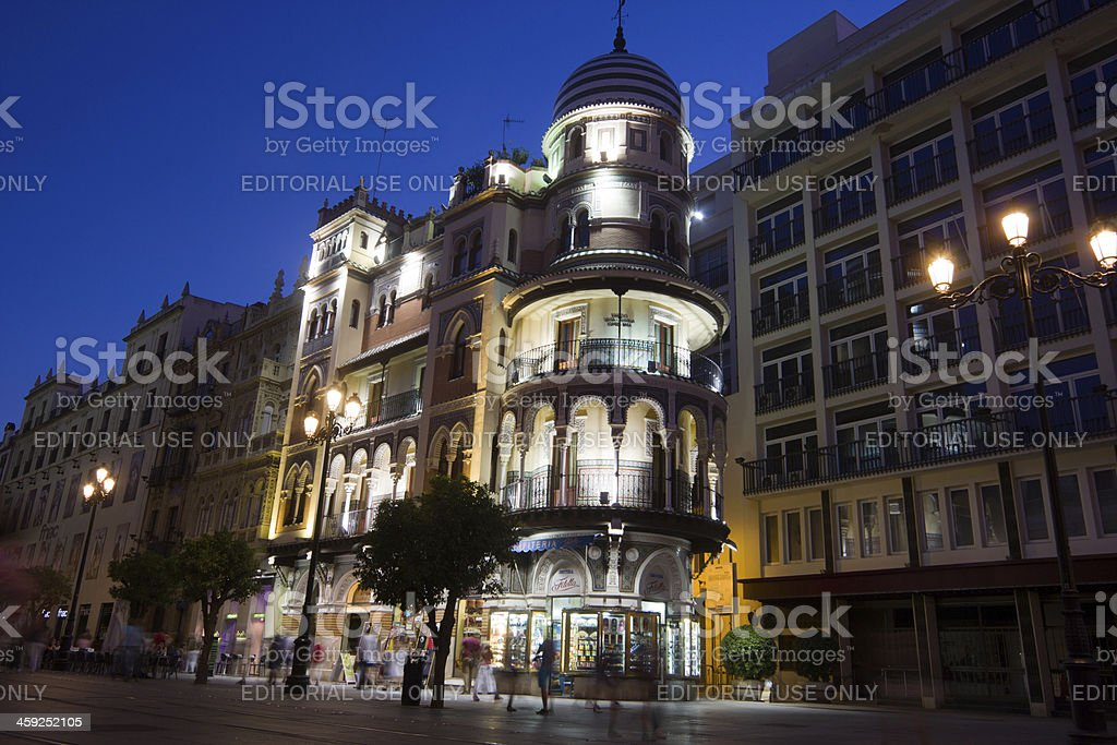Constitution Avenue in Seville, Spain royalty-free stock photo