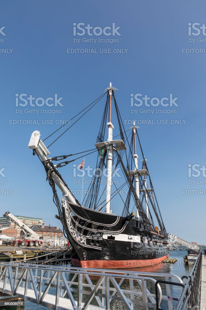 USS Constitution, Boston, USA stock photo