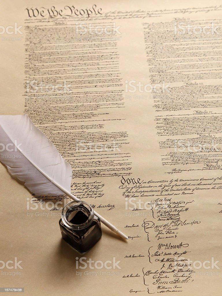 US Constitution document stock photo