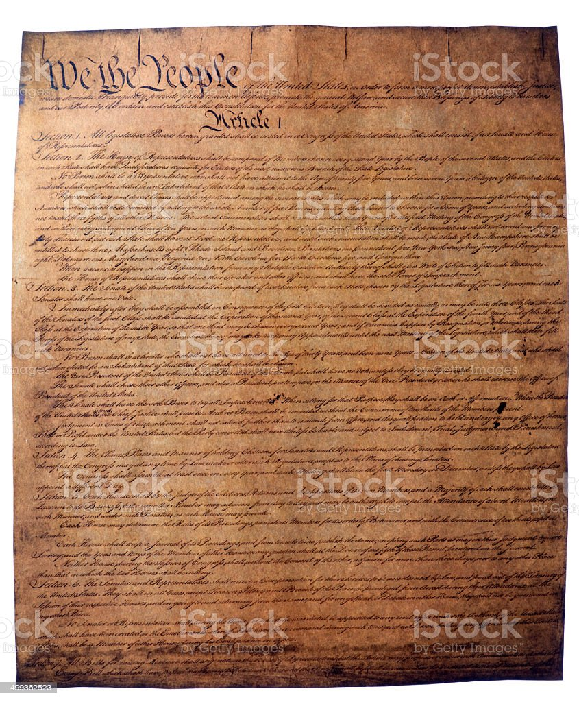 USA Constitution document stock photo