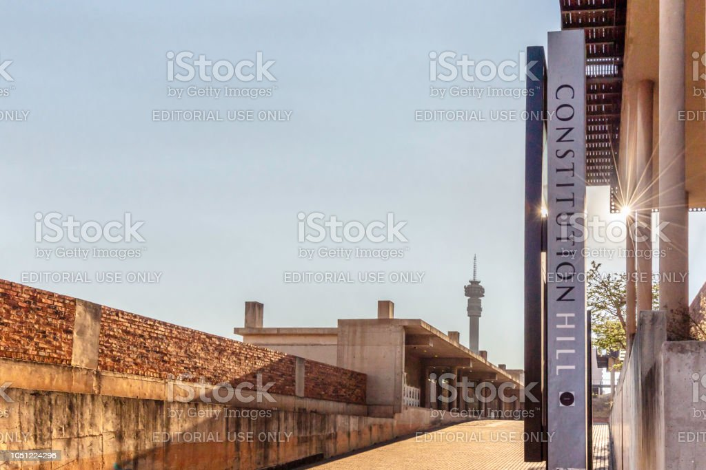 Constitution Hill in Hillbrow, Johannesburg stock photo