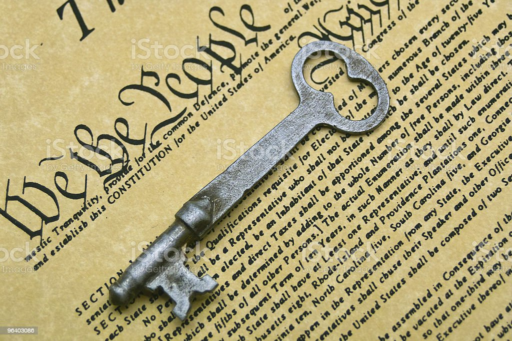 Constitution is the Key - Royalty-free American Culture Stock Photo