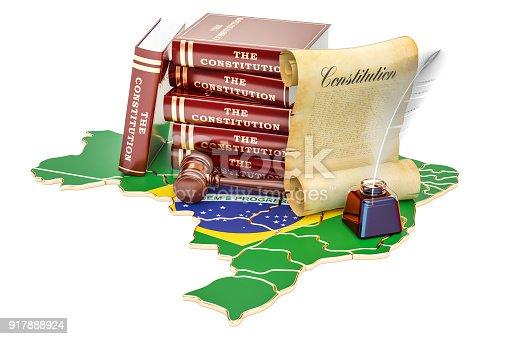istock Constitution of Brazil concept, 3D rendering 917888924