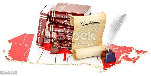 istock Constitution of Canada concept, 3D rendering 917888934