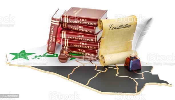 Constitution of Iraq concept, 3D rendering