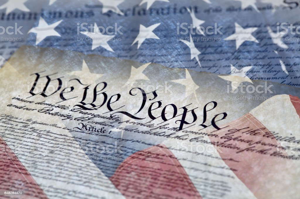 Constitution of the United States stock photo