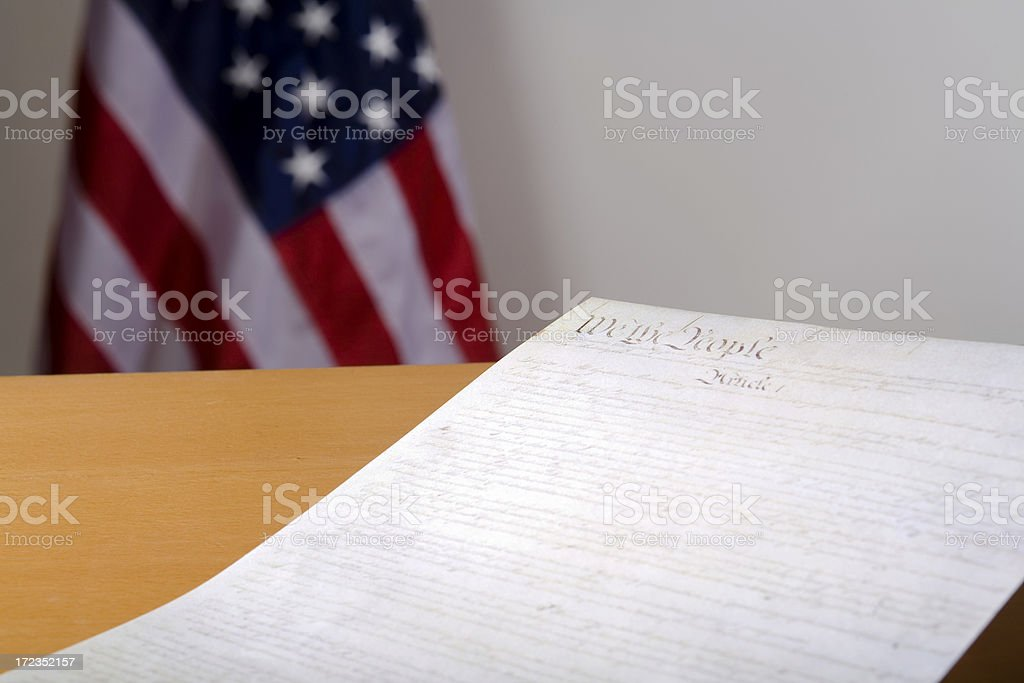 Constitution on table royalty-free stock photo