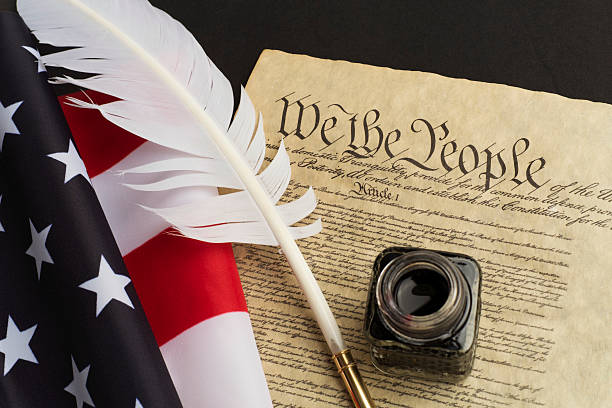 USA Constitution stock photo