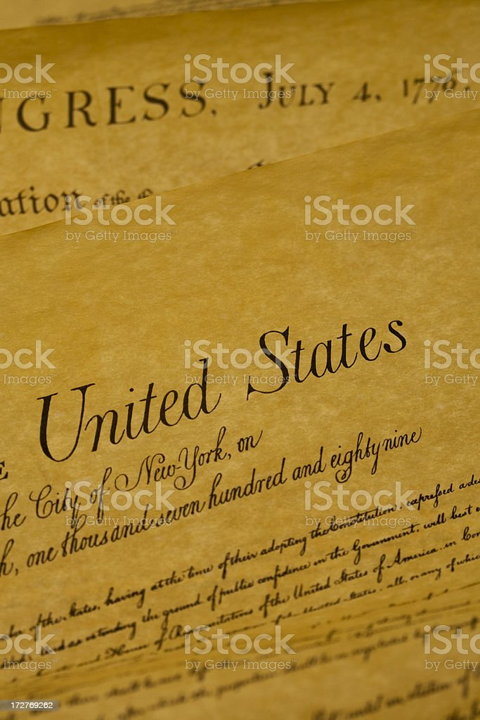 USA Constitution royalty-free stock photo