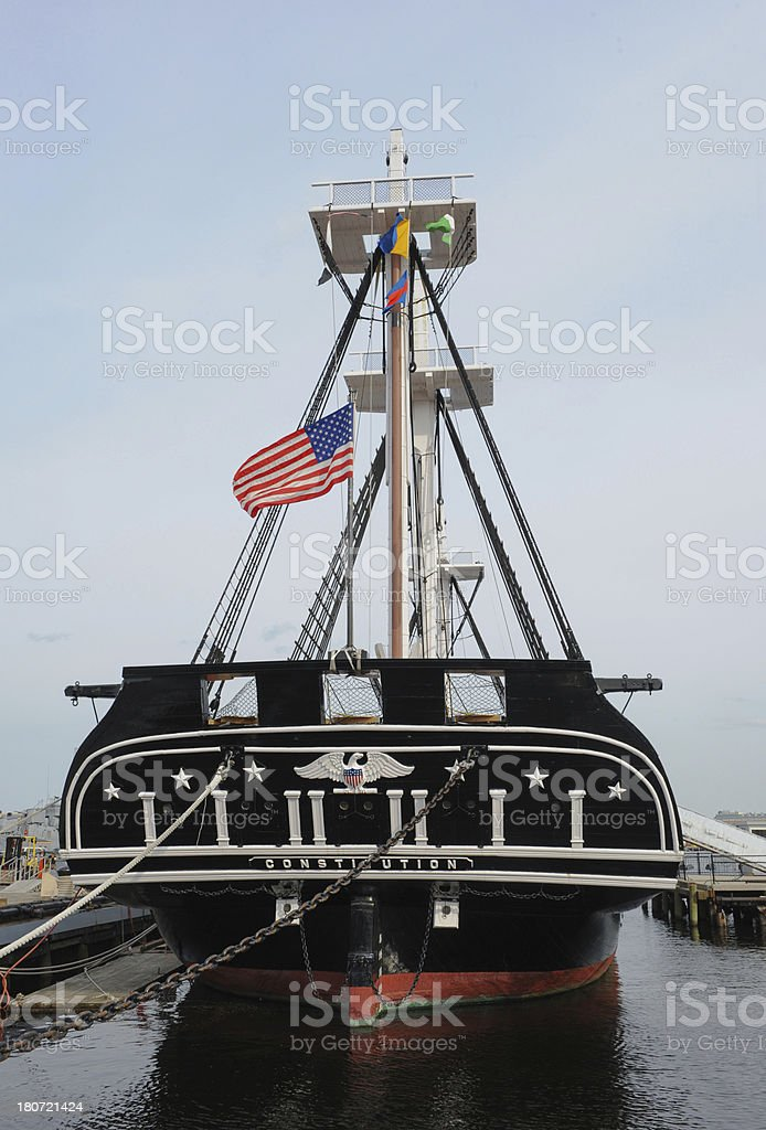 USS Constitution royalty-free stock photo