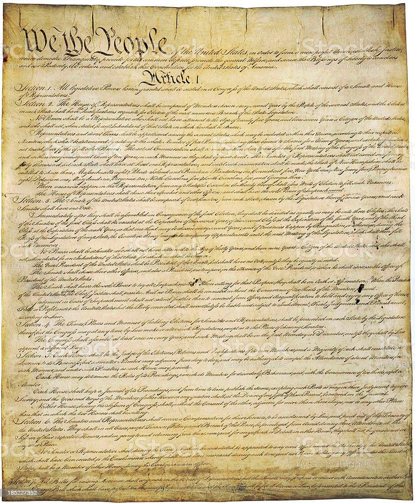 US Constitution stock photo