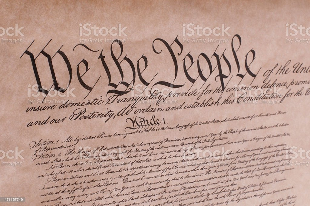 Constitution royalty-free stock photo