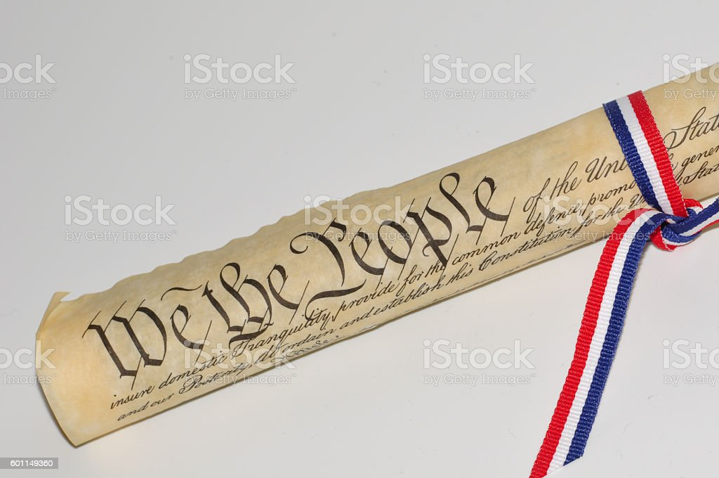 US Constitution stock photo