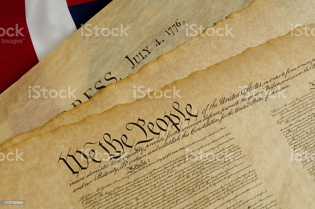 U.S. Constitution Preamble royalty-free stock photo