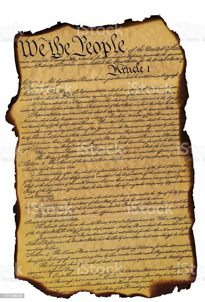 US Constitution XXL royalty-free stock photo