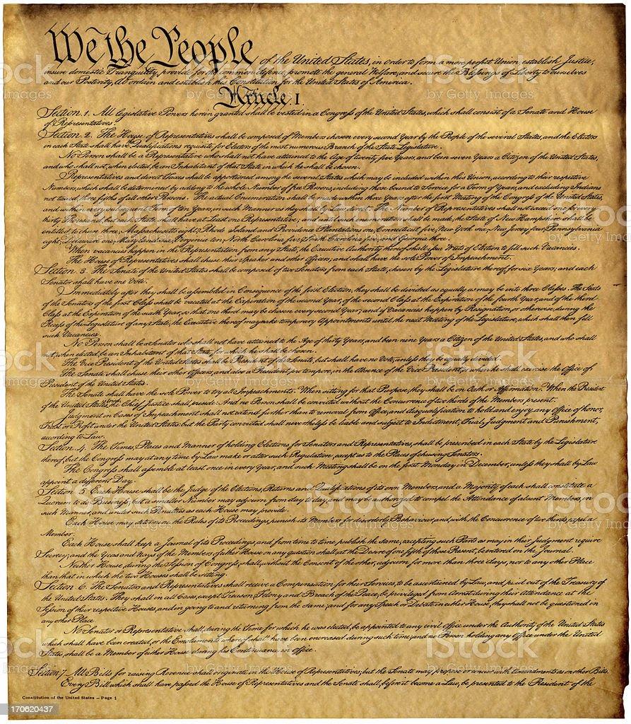 Constitution XXXL stock photo