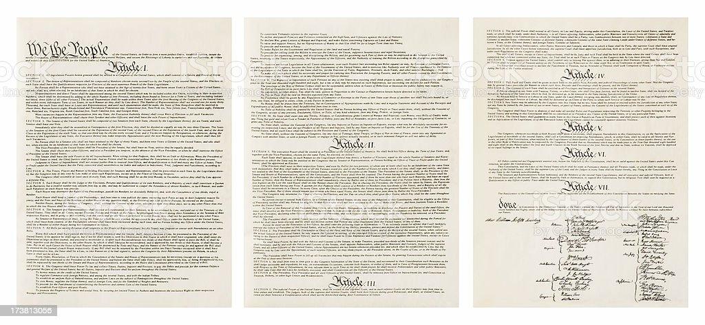 US Constitution - XXXL stock photo