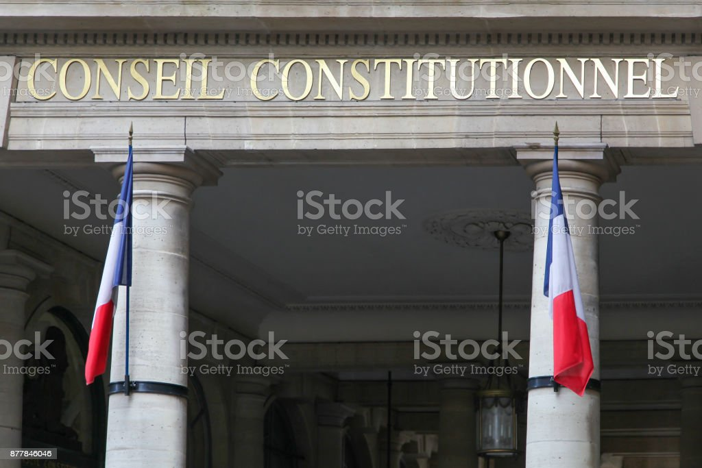 Constitutional Council in Paris, France stock photo