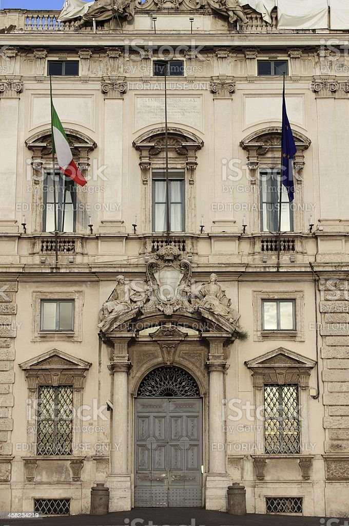 Constitutional Court palace in Rome royalty-free stock photo