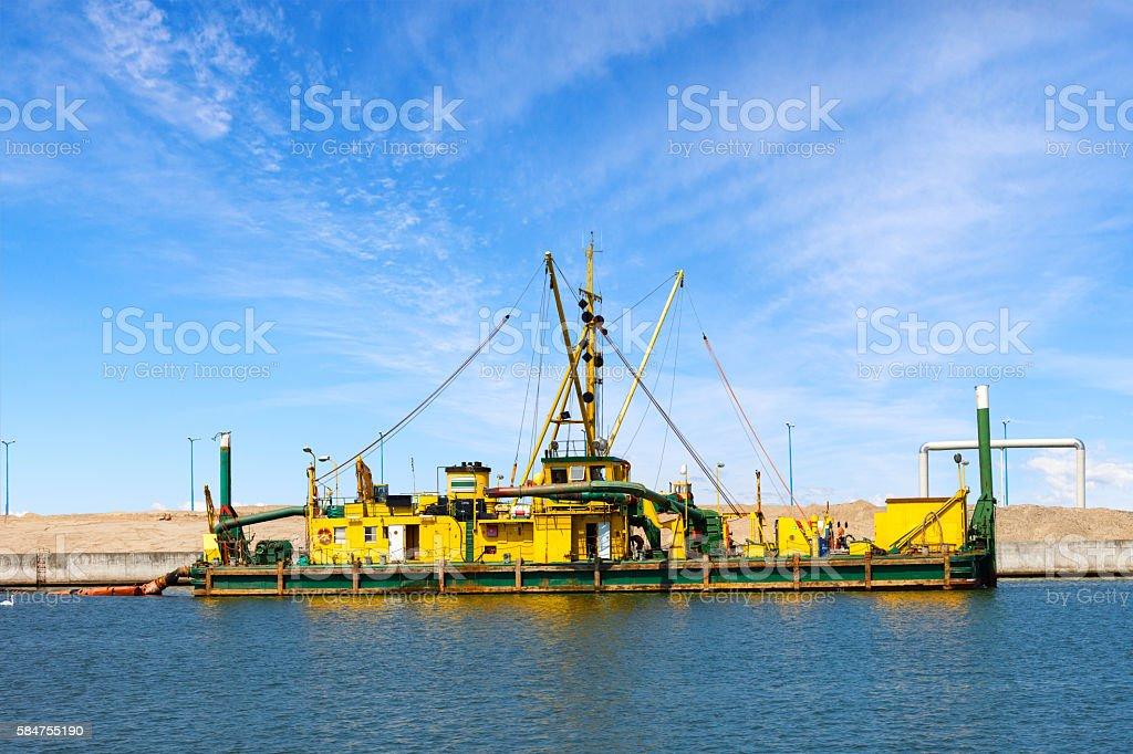 Construcion site in Port stock photo