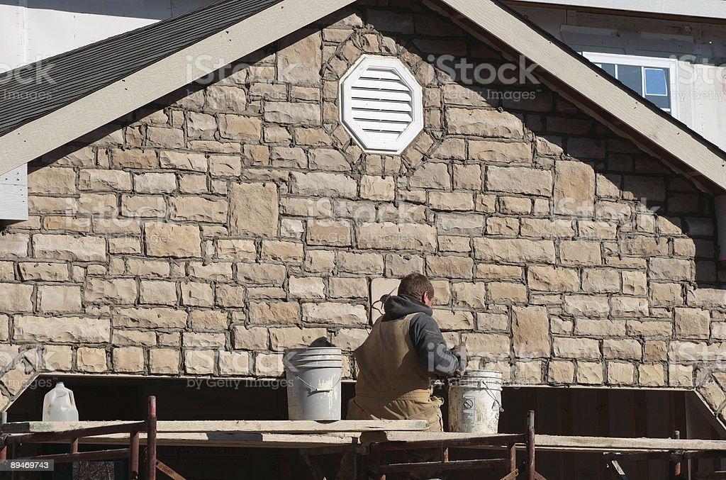El sitio de Construciton de albañilería foto de stock libre de derechos
