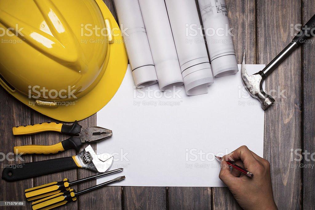 construct plan royalty-free stock photo