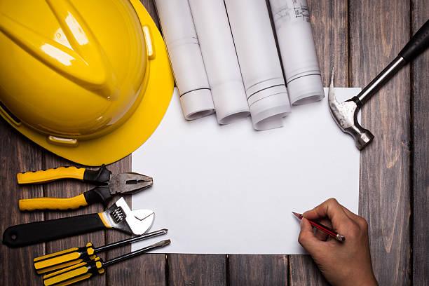 construct plan stock photo