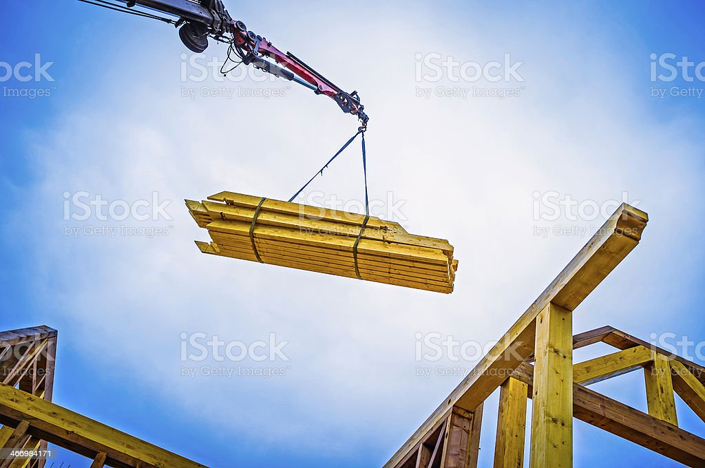 Constructing house stock photo