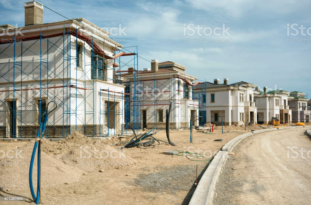constructing quality homes stock photo