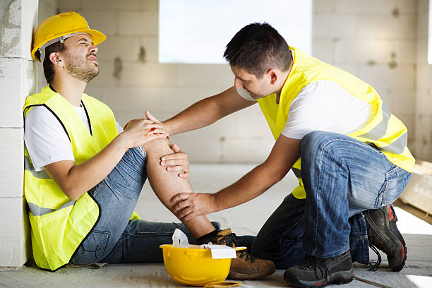 construction accident - fall prevention stock photos and pictures