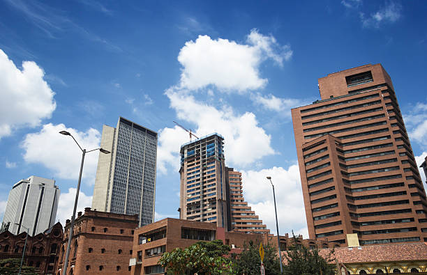 Construction activity in Bogotá stock photo