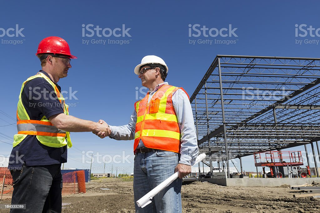 Construction Agreement royalty-free stock photo