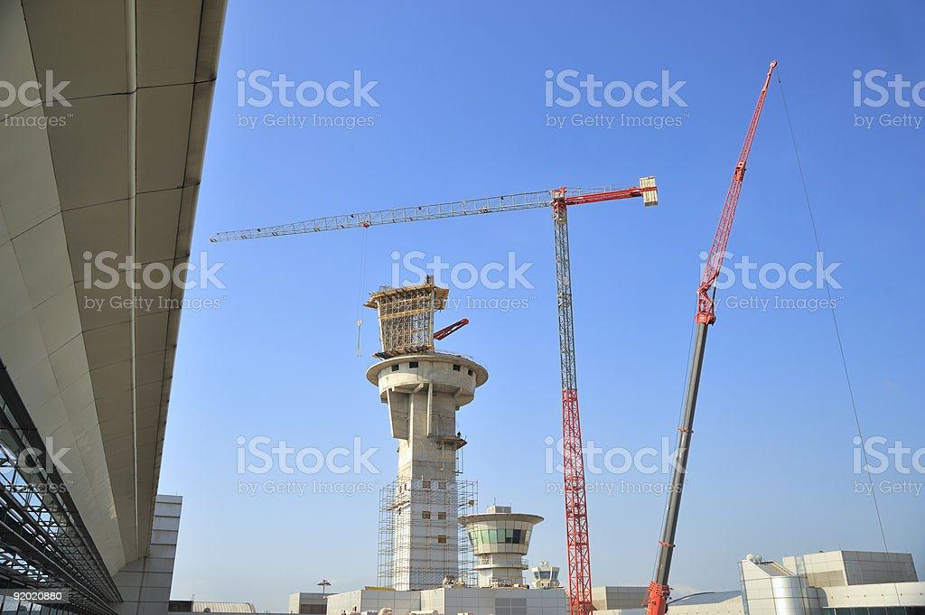 Construction and crane stock photo