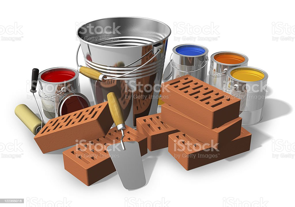 Construction and home renovation concept royalty-free stock photo