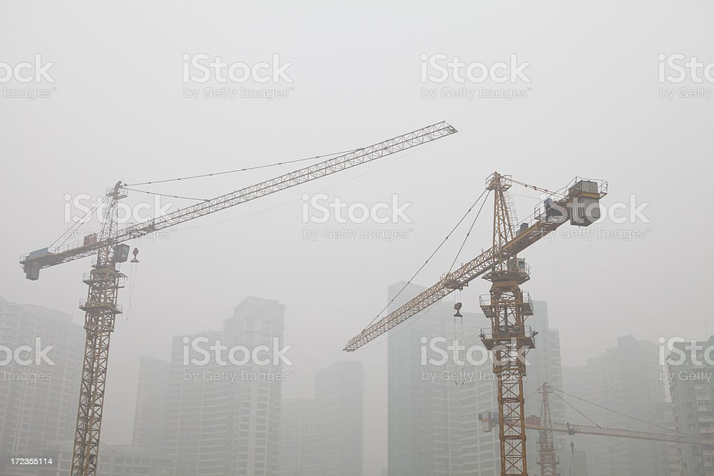 construction and pollution royalty-free stock photo