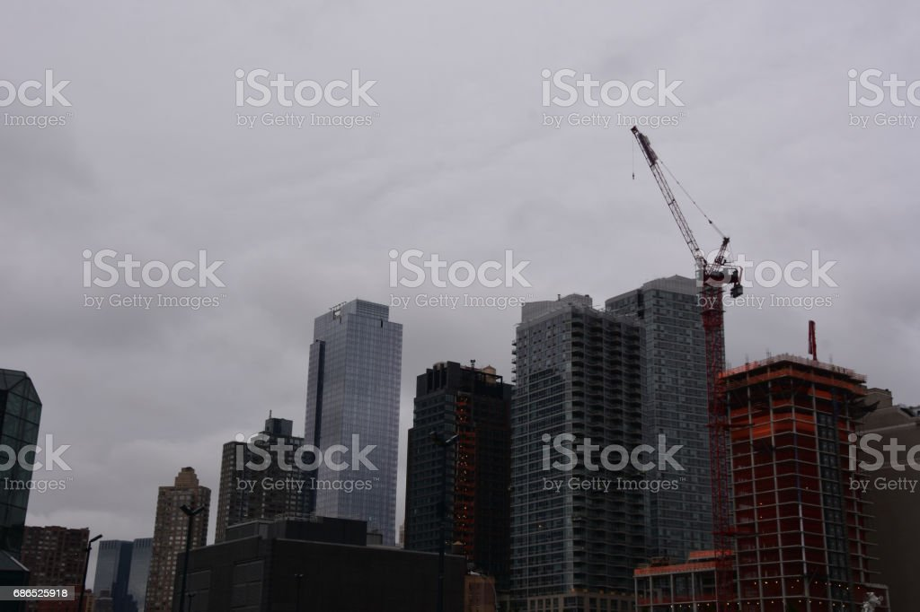 Construction and renewal in New York foto stock royalty-free