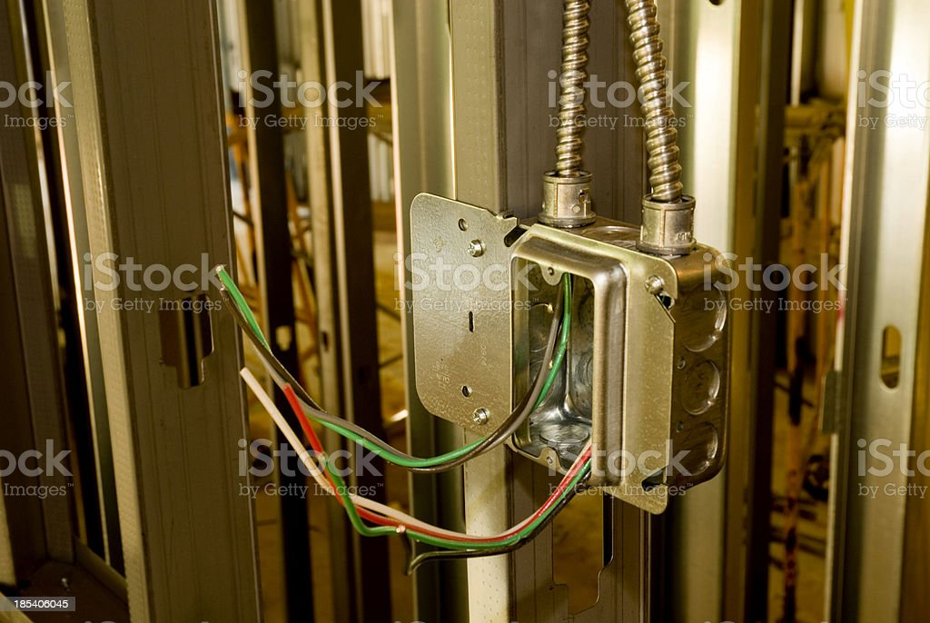 Construction and wiring stock photo