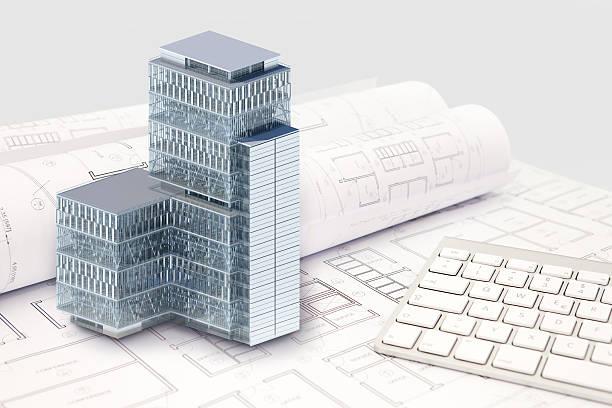 Projet de Construction de l'architecture et de l'extérieur du bâtiment et des modèles en 3D - Photo