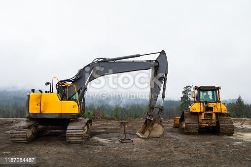 Construction area on Vancouver Island.