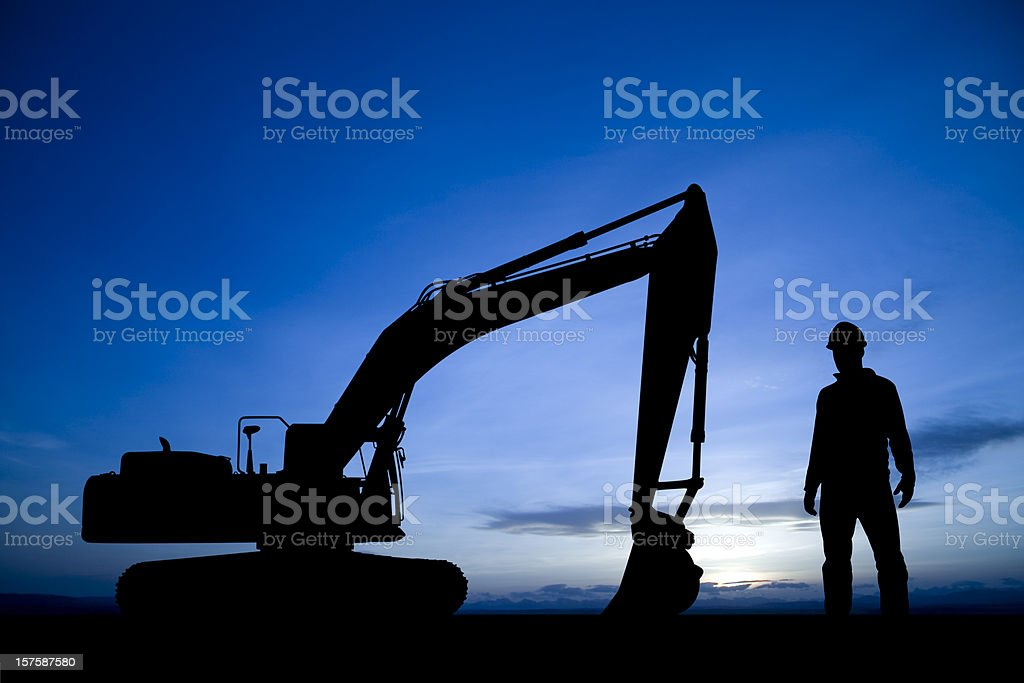 Construction at Dusk royalty-free stock photo