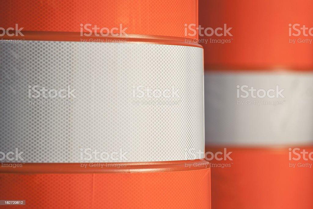 Construction Barrels stock photo