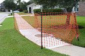 Construction Barrier on Sidewalk