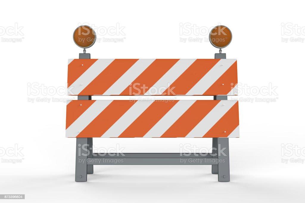 Bau Barriere oder Straße block – Foto