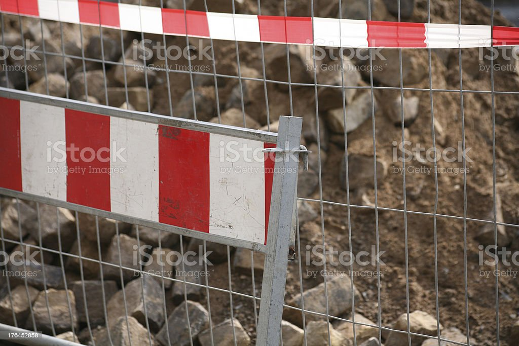Construction barrier stock photo