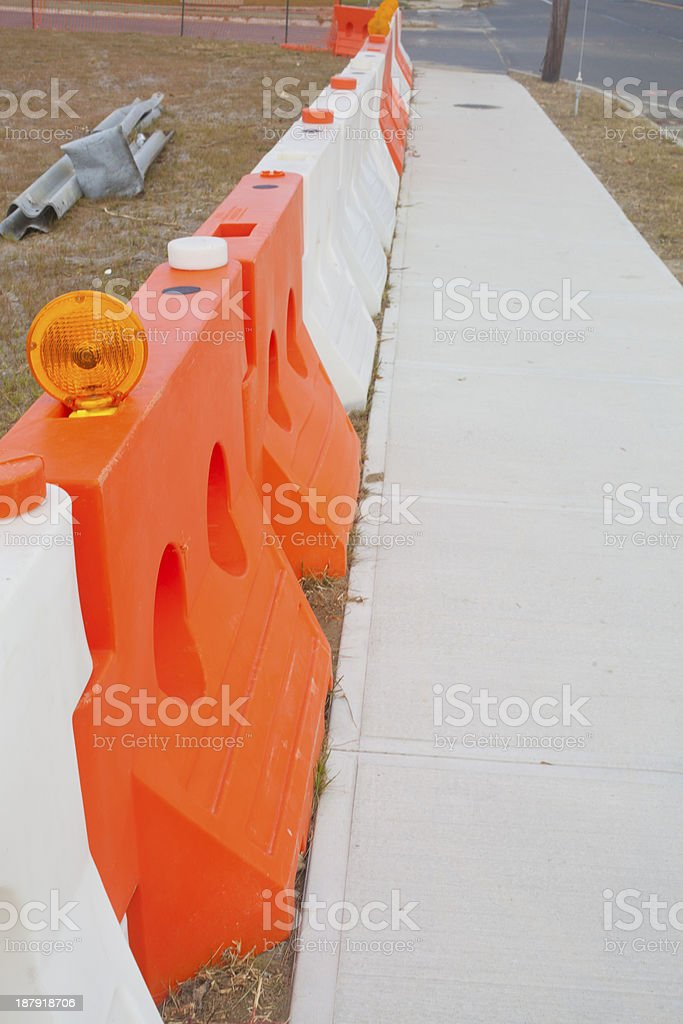 Construction Barrier royalty-free stock photo